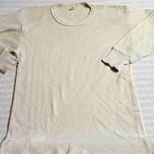 Hanes Vintage Sz. XlL Ivory Waffle Weave Thermal